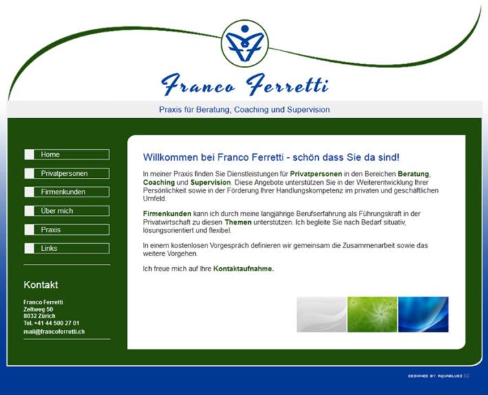 Neue Webseite Plus Firmenlogo Für Franco Ferretti Zürich