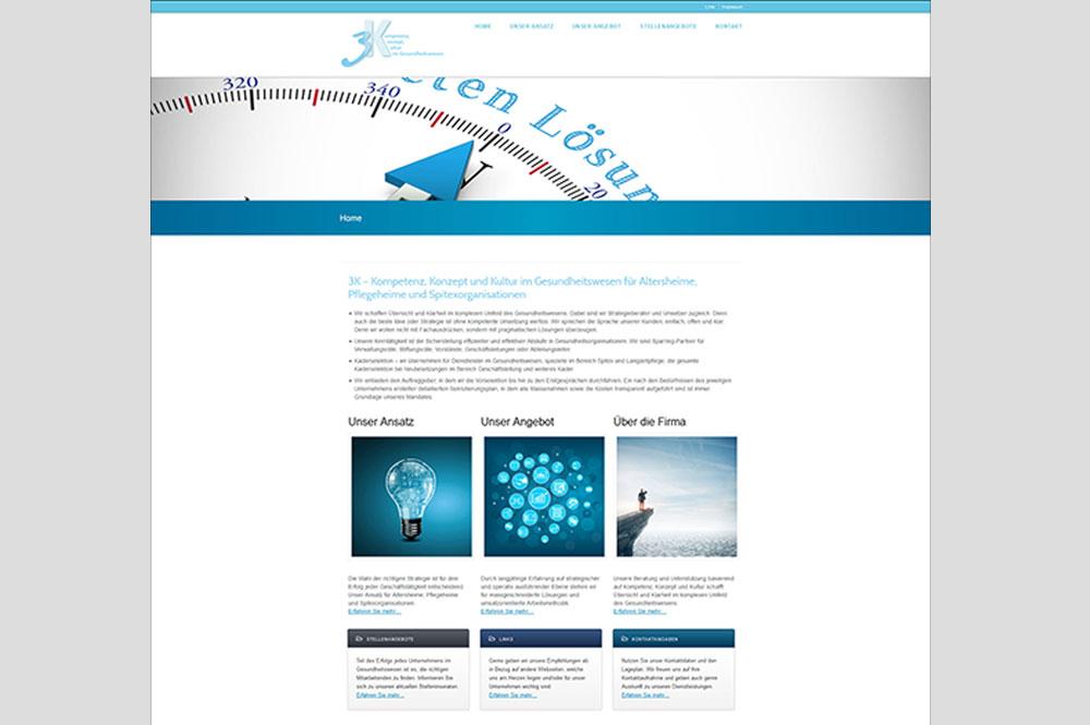 Neue Firmenwebsite Für Die 3k Schweiz Portfolio Von