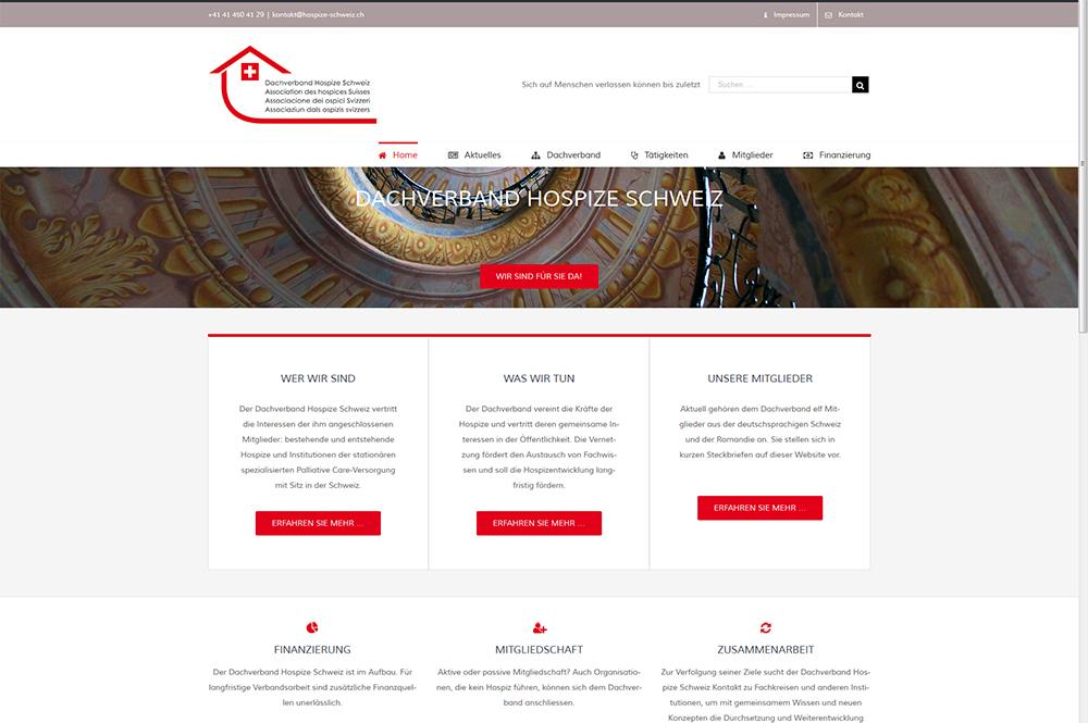 Neue Firmenwebsite Für Den Dachverband Hospize Schweiz